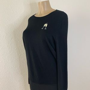 Banana Republic Black Embroidered Sweater Size S